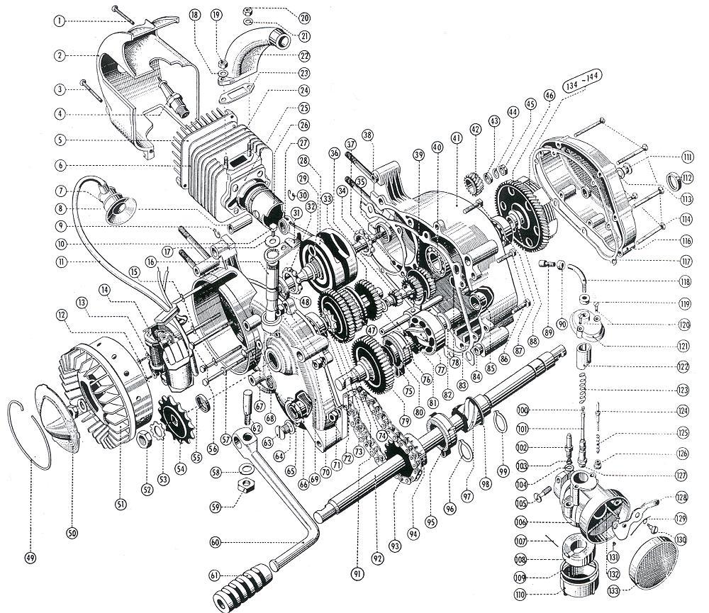 Kreidler Motorenseite